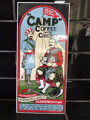 Camp Coffee With Chicory Vintage Style Enamel Sign Kitchenalia