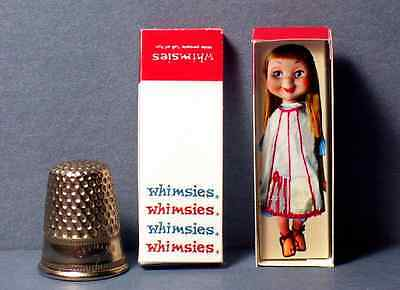 Dollhouse Miniature 1:12 Lena The Cleaner Whimsies Doll Box 1960s dollhouse toy