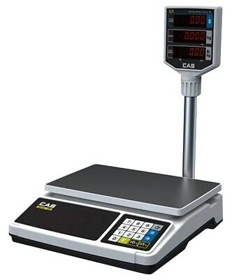 Cas Er Plus Retail Scale 15Kg Flat Plate Scale With Tower Pole Deli Butcher