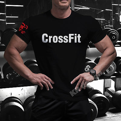 Crossfit GYM T-shirt Sport Workout Fitness Strength WOD Functional Training C7
