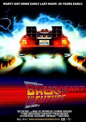 Back To The Future Re-Release Movie Poster Film A4 A3 Print Cinema