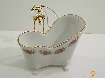 Reutter Dresden Rose Soaking Bath Tub With Shower 1:12 Miniature 1.772/0