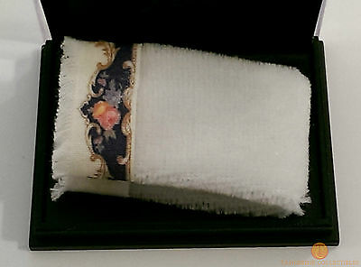 Reutter Bath Towel Royal Blue Design 1:12 Dolls House Miniature 1.766/9