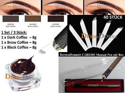 Microblading Handmethode Härchenzeichnung Permanent Make up Tattoo - Set -1