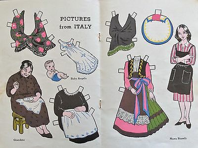1953, Biaselli Family in Italy Journey Friends Series Paper Doll,Jack & Jill Mag