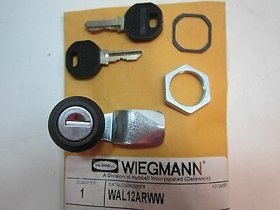 Wiegmann WAL12ARWW Black 3 Point Cylinder Lock with 2 Keys NEW