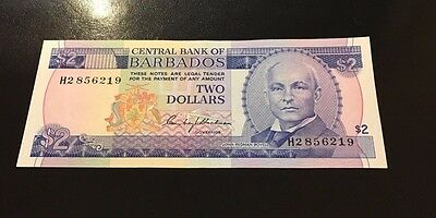 (1) TWO dollar central bank BABADOS FROM1986