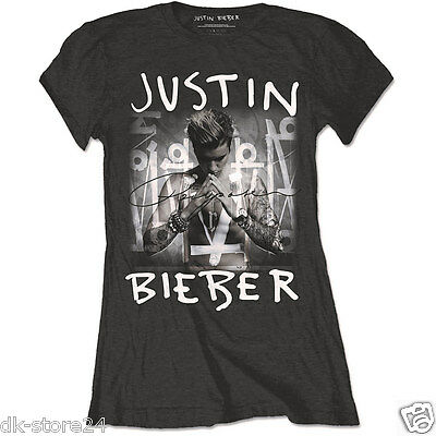 Justin Bieber - Purpose Logo Girlie T-Shirt Ladies S/m/l/xl