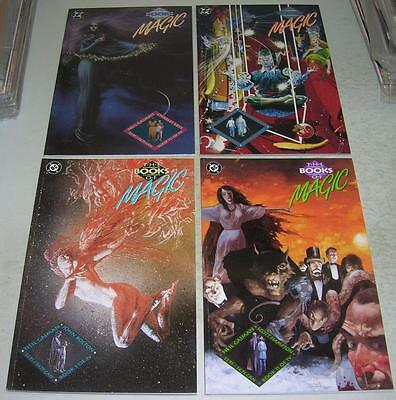 BOOKS OF MAGIC 1 2 3 4 COMPLETE SERIES (DC Comics 1990) Early DEATH app (VF-)