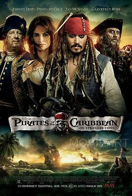 JOHNNY DEPP PIRATES POSTER A4 A3 A2 A1 CINEMA MOVIE LARGE FORMAT ART DESIGN