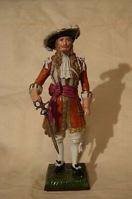 Rare Early Carl Thieme Dresden Officer 3rd Guards 1660 Porcelain Soldier
