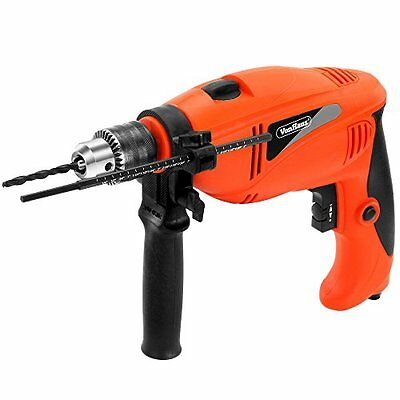 VonHaus Corded 6.5A 1/2-inch Hammer Drill with 9pc Drill Bit Set & Power Tool