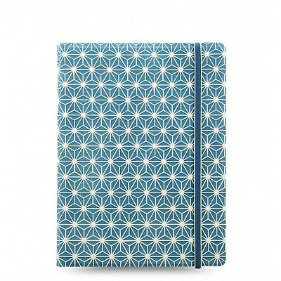 Filofax A5 Rechargeable Bloc-notes Impression Bleu Blanc Couverture Souple