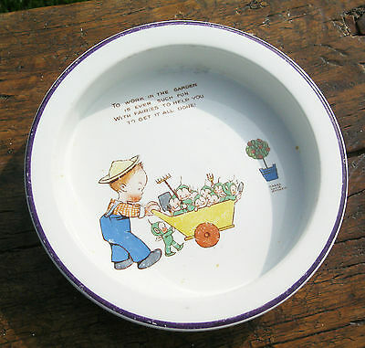 Shelley .Mabel Lucie Attwell baby bowl .