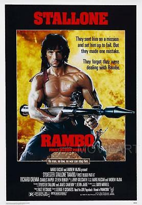 Rambo First Blood Part 2 Movie Poster Film A4 A3 Art Print Cinema