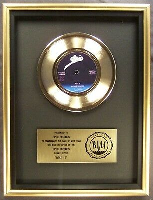 Pink Floyd Wish You Were Here LP Gold RIAA Record Award To Columbia Records