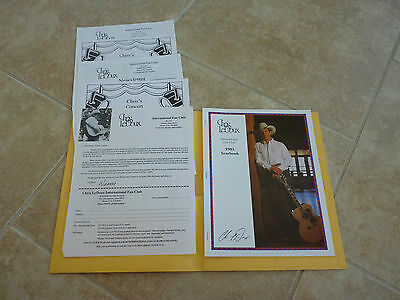 Chris LeDoux Cowboy Country Music Fan Club Folder Newsletter 1995 Yearbook