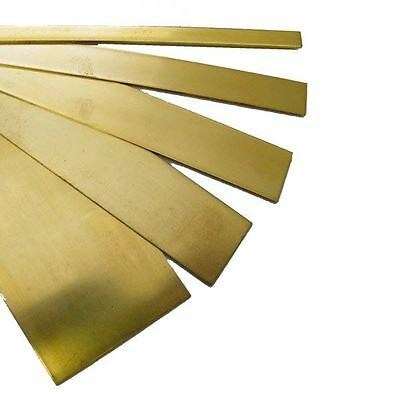 "Brass Strip for Model Making - Each Brass Sheet is 12"" Long"