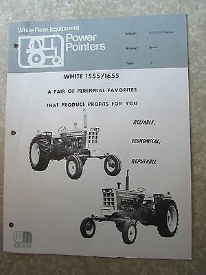 White Tractor Oliver 1555 / 1655 Dealers Brochure Power Pointers Farm