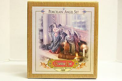 Grandeur Noel Porcelain Angel Set Pair of Angel Figurines Collectors Ed 2000 NIB