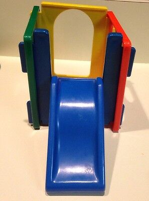 Vintage Little Tikes Dollhouse Sized Activity Cube Jungle Gym Slide Climber Toy