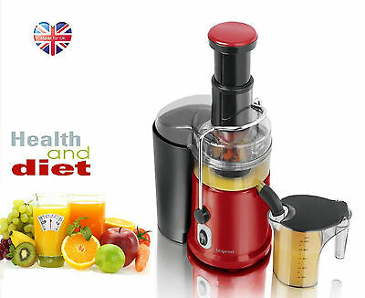 Red Pro 900W Whole Fruit Power Juicer Vegetable Citrus Juice Extractor