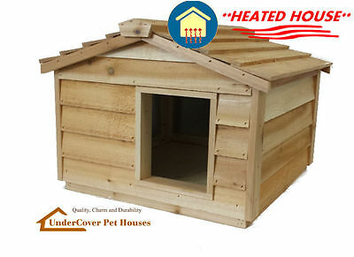 Large Heated Insulated Cedar Cat House Small Dog House Shelter