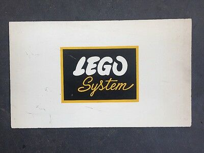 Lego Systems Shop Display Sign On Masonite Board