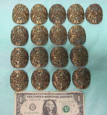 17 Antique Brass Filigree Accent Trim Pieces Furniture ? Radius Round Steampunk