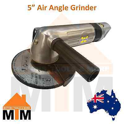 "5"" AIR ANGLE GRINDER 100mm TRADE QUALITY TOOL COMPRESSOR SANDER POLISHER CUTTER"
