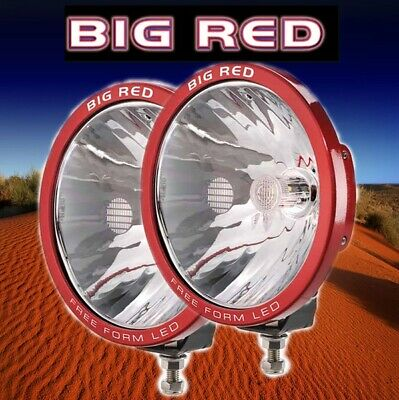Big Red Set of 220mm Free Form 3 x 10W XML Cree LEDs 6000k Driving Lights Pair B