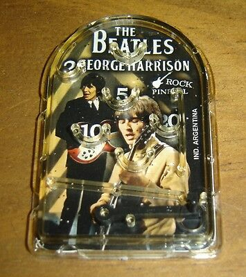 THE BEATLES George Harrison rare MINI PINBALL  collectible toy ARGENTINA premium