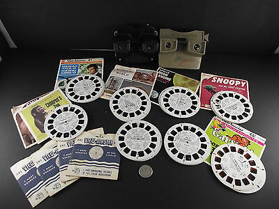 Sawyer View-Master Collection Snoopy Moon Landing Chilrdens Zoo Garfield Etc