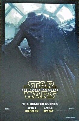2016 Wondercon Star Wars The Force Awakens Dvd Blu Ray Promo Poster Exclusive