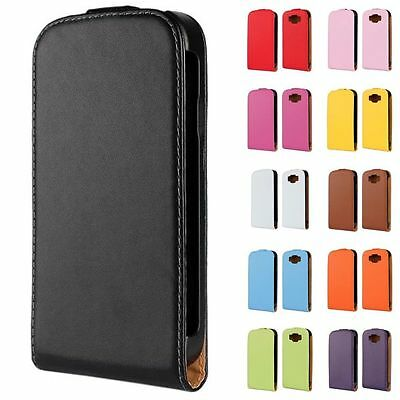 New Genuine Leather Flip Hard Cover Skin Case for Samsung Galaxy Grand Neo I9060