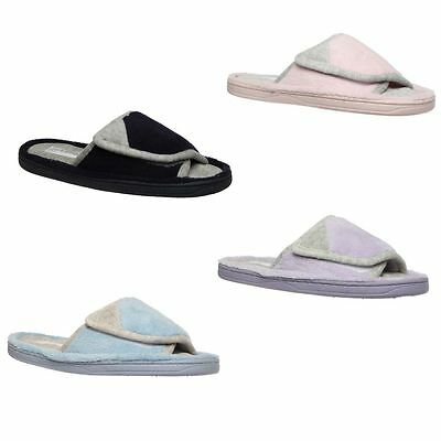 Womens Grosby Soft Invisible Slide Slippers Cushion Thongs Pink Blue Navy Purple