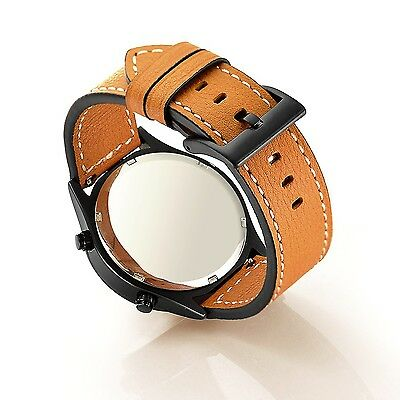 ORANGE STITCHED LEATHER Wristband Band Bracelet Strap For SAMSUNG GEAR S3