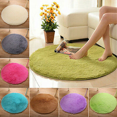 Home Decor Soft Bath Bedroom Floor Shower Rugs Yoga Plush Round Mat Rug Novelty