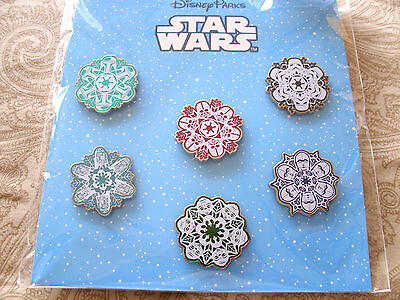 Disney * STAR WARS - CHARACTER SNOWFLAKES * 6 Pin Booster Set - New in Package