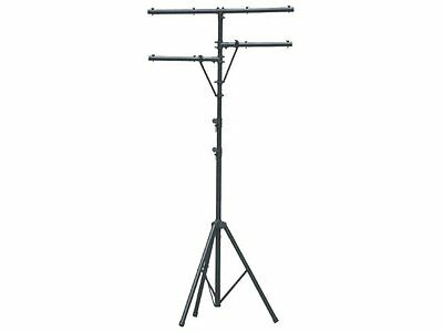 Aluminium Lighting Stand LTS1B with T Bar and Side Arms. 3.25 m. Sound King