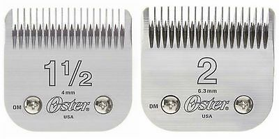 """Oster 76 """"Combo Buy"""" Detachable Clipper Replacement Blades (Size 1.5 & Size 2)"""
