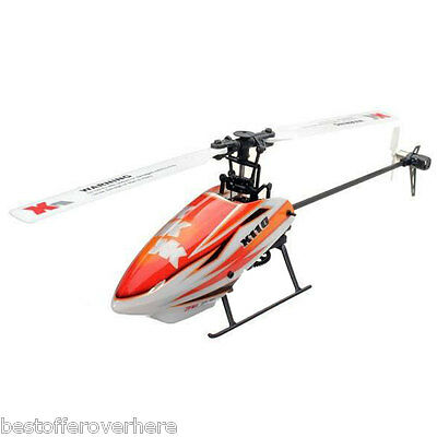 XK K110 2.4GHz 6CH Built-in Gyro RC 3D Aerobatic Flybarless Helicopter