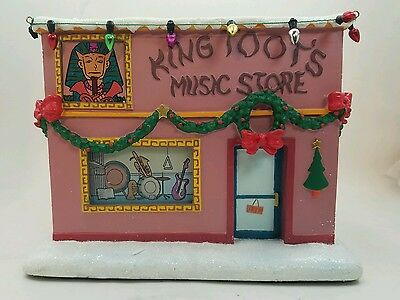 The Simpsons King Toot's Music Store Hawthorne Christmas Village Lighted