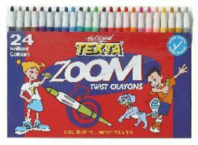 Texta Zoom Twist Coloured Crayons 24 Pack