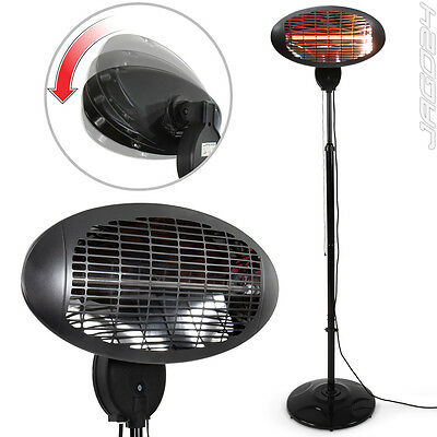 Free Standing Infrared Heater Light 650W Portable Outdoor Terrace Heating Black