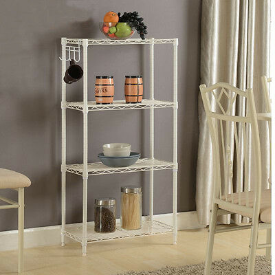 Industrial Wire Shelving Rack Metal Shelf Adjustable Unit Garage Kitchen Storage