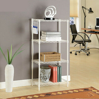 4Tier Wire Shelving Rack Metal Shelf Adjustable Unit Garage Kitchen Storage