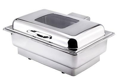 13.5ltrs Luxury Electric Chafing Dish Chafer Set See Through Lid Hot Buffets
