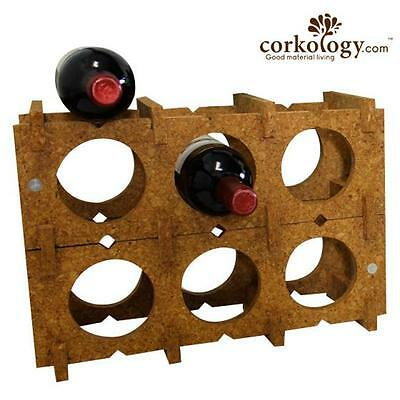 Corkology 9BWR-300 9 Bottle Wine Rack Light