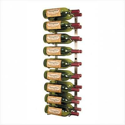 VintageView WS3 Platinum Series Eighteen Bottle Wall Mounted Wine Rack